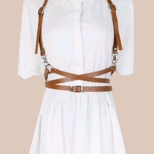 Cosplay Harness Belt Brown Buckles Straps Anime